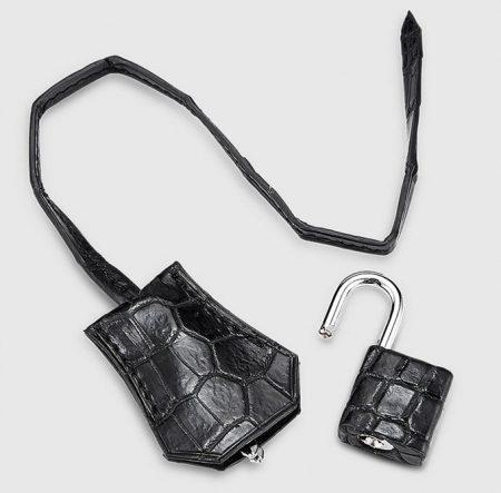 Genuine Crocodile Handbag-Lock