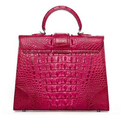Genuine Crocodile Handbag, Shoulder Bag-Back