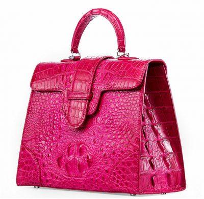 Genuine Crocodile Handbag, Shoulder Bag-Left