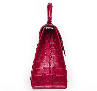 Genuine Crocodile Handbag, Shoulder Bag-Side