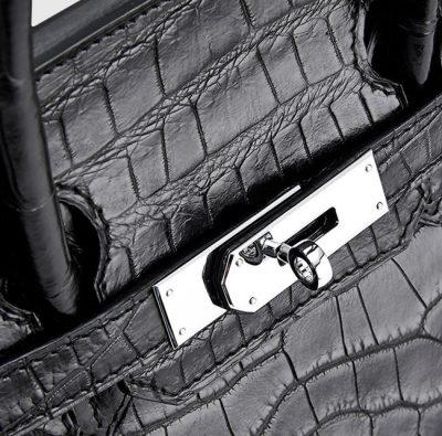 Genuine Crocodile Handbag-Zipper