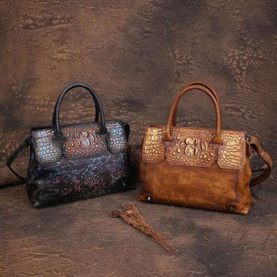 Genuine leather handbags for women