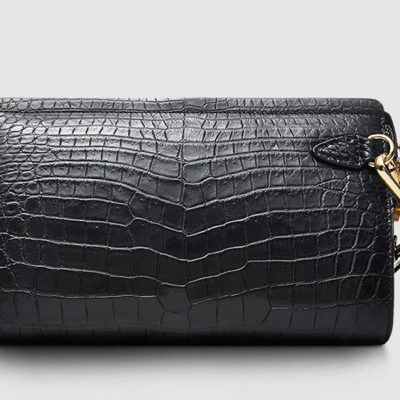 Large Genuine Crocodile Wallet-Front