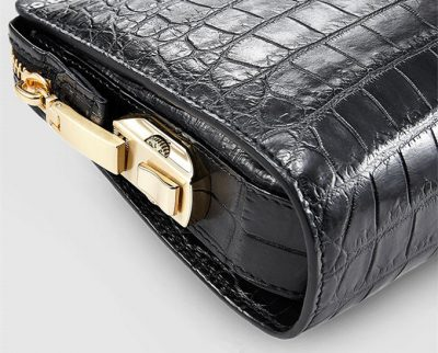 Large Genuine Crocodile Wallet-Zipper