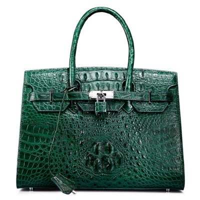 Luxury Green Genuine Crocodile Handbag