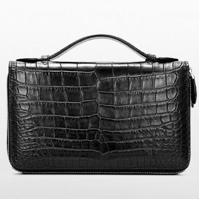 Mens Crocodile Clutch Bag, Large Crocodile Wallet-2