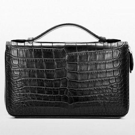 Mens Crocodile Clutch Bag, Large Crocodile Wallet-2