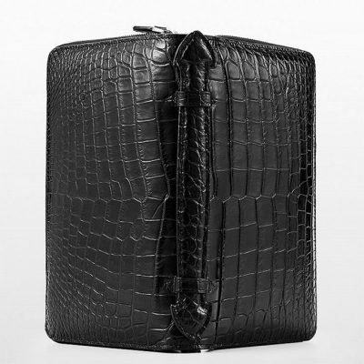 Mens Crocodile Clutch Bag, Large Crocodile Wallet-Surface