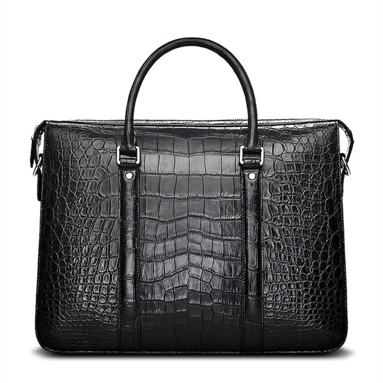 Men S Fashion Crocodile Bag Luxury Crocodile Laptop Bag
