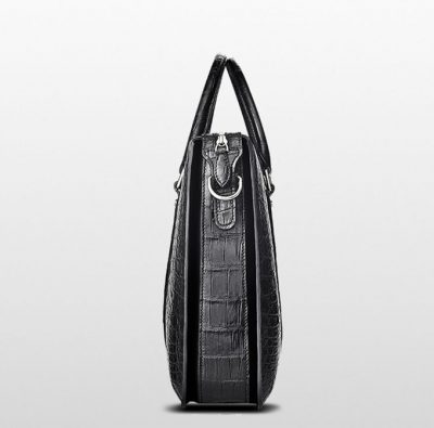 Mens Fashion Crocodile Bag-Black-Side