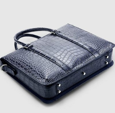 Mens Fashion Crocodile Bag-Blue-Bottom