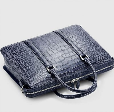 Mens Fashion Crocodile Bag-Blue-Top