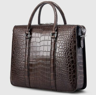 Mens Fashion Crocodile Bag-Brown-Back