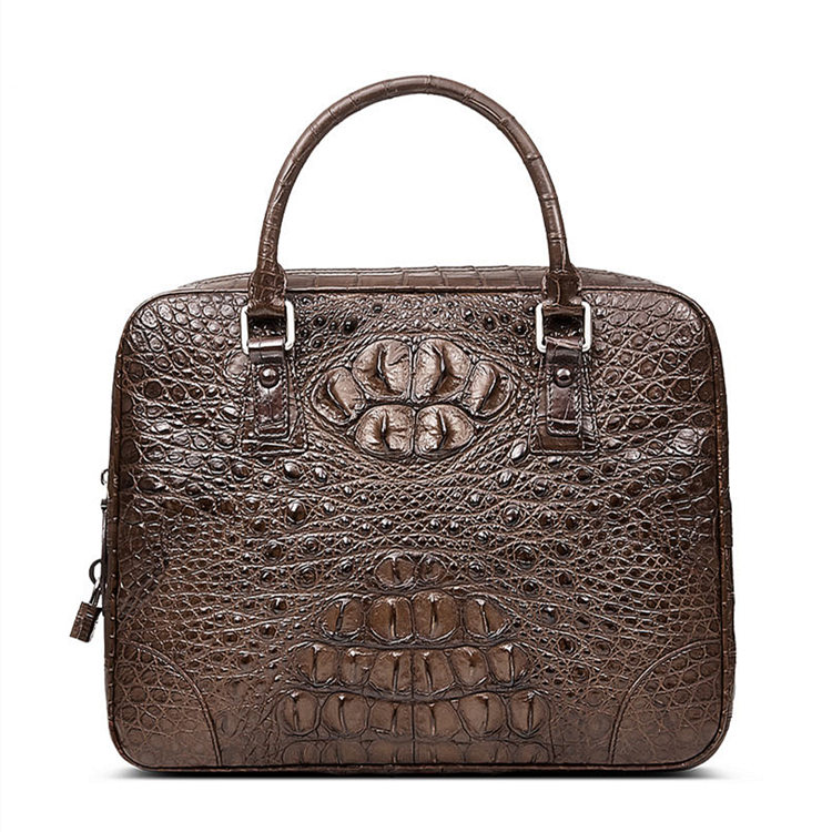 Small Genuine Crocodile Briefcase, Laptop Bag