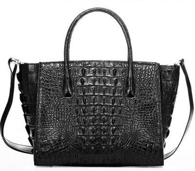 Stylish Crocodile Crocodile Handbag, Crocodile Shoulder Bag-Back