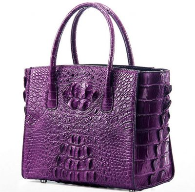 Stylish Crocodile Crocodile Handbag, Crocodile Shoulder Bag-Purple-1