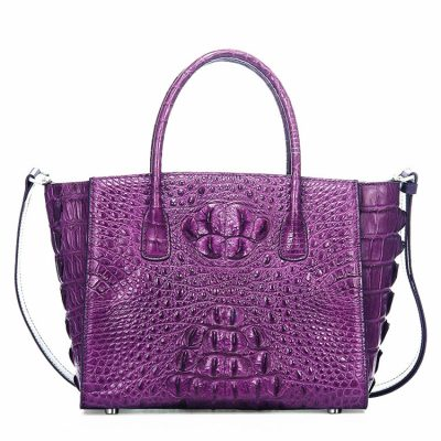 Stylish Crocodile Crocodile Handbag, Crocodile Shoulder Bag-Purple