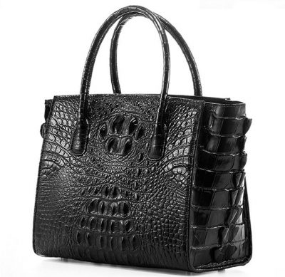 Stylish Crocodile Crocodile Handbag, Crocodile Shoulder Bag-Side