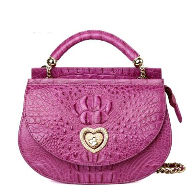 Stylish Crocodile Evening Handbag