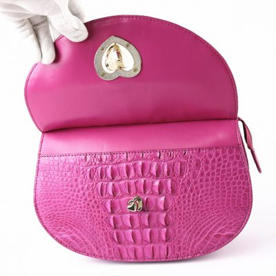 Stylish Crocodile Evening Handbag-Button