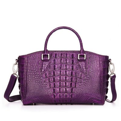 Stylish Crocodile Shoulder Bag, Crocodile Purse Handbag-Back