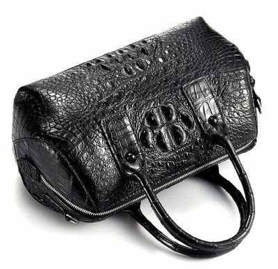 Stylish Crocodile Skin Barrel Bag-2