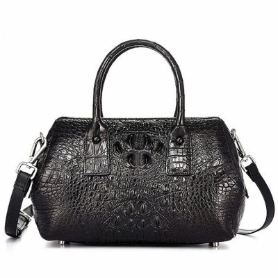 Stylish Crocodile Skin Barrel Bag