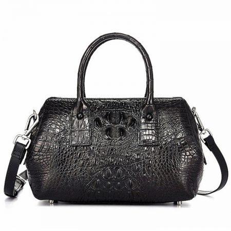 Stylish Crocodile Skin Barrel Bag