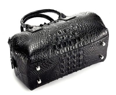 Stylish Crocodile Skin Barrel Bag-Bottom