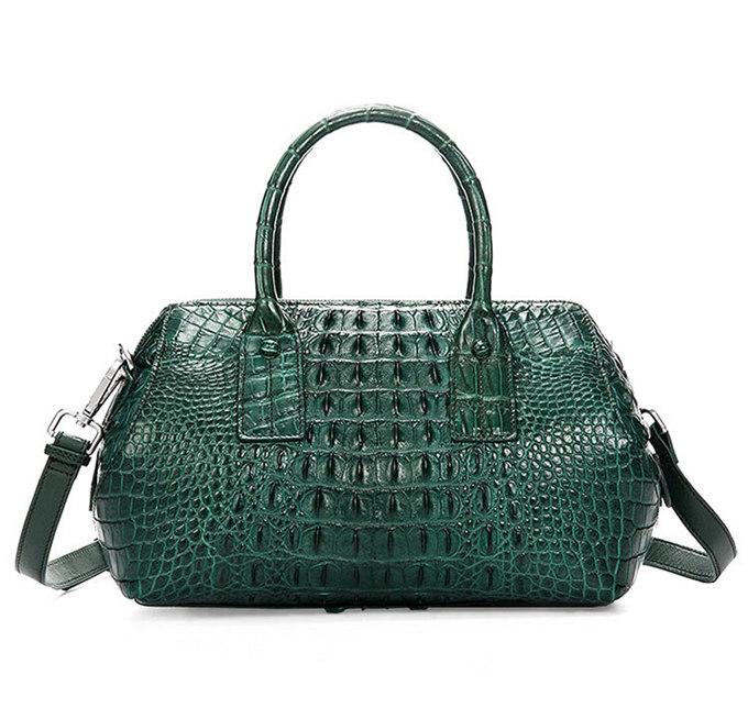 stylish crocodile skin barrel bag crocodile handbag crocodile