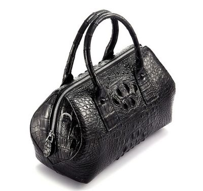 Stylish Crocodile Skin Barrel Bag-Top