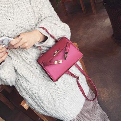leather female shoulder bag