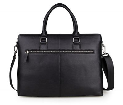 Casual Leather Briefcase, Leather Business Bag-Back