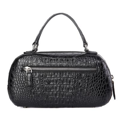 Classic Crocodile Top-Handle Handbag-Back