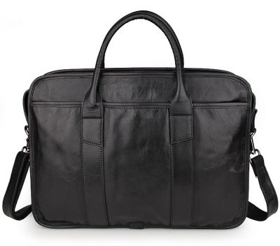 Excellent Italy leather briefcase, Leather Laptop Bag-Back