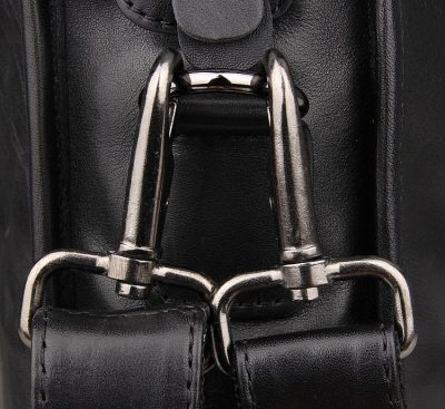 Excellent Italy leather briefcase, Leather Laptop Bag-Hardware
