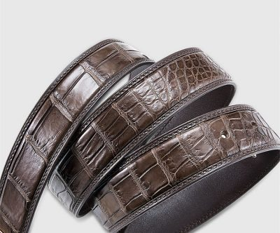 Genuine Crocodile Belt - Classic & Fashion Design-3