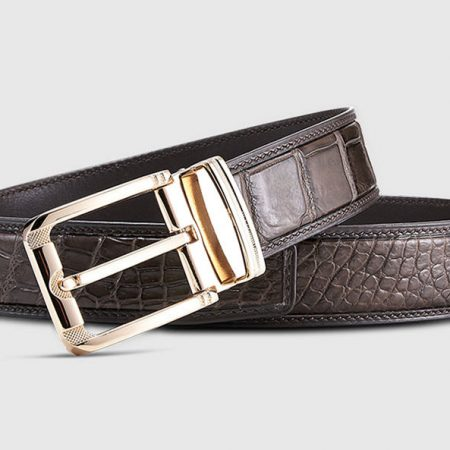 Genuine Crocodile Belt - Classic & Fashion Design-Lay