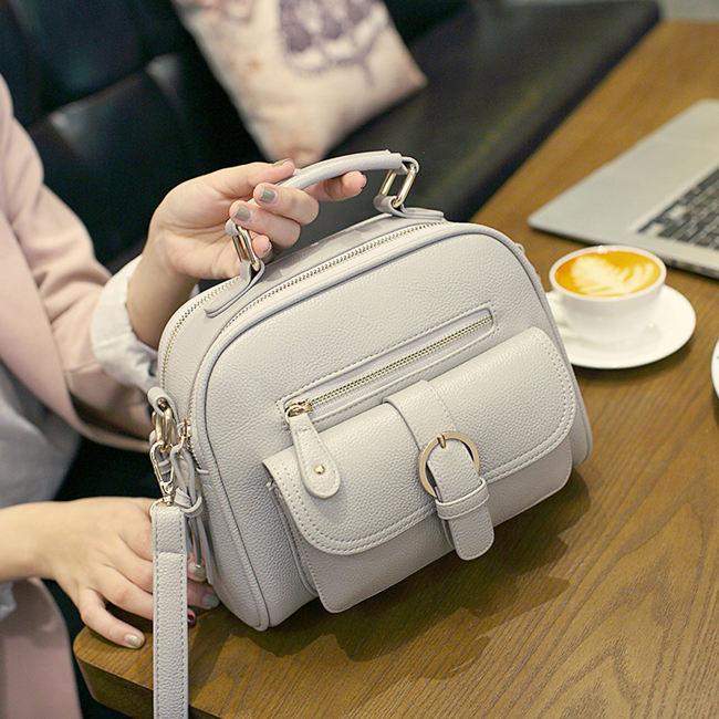 Gray Handbag