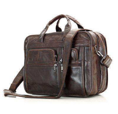 Large Men Leather Briefcase
