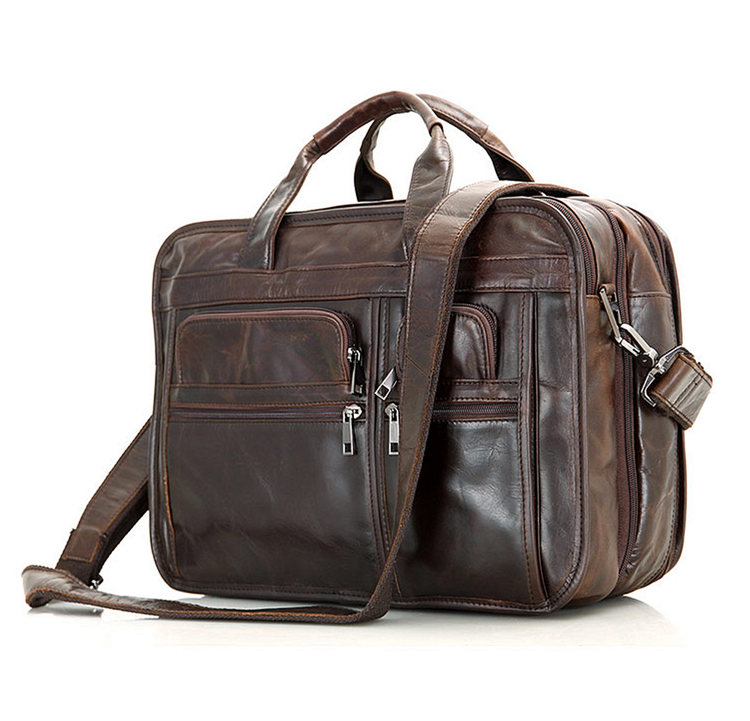 Large Men Leather Briefcase