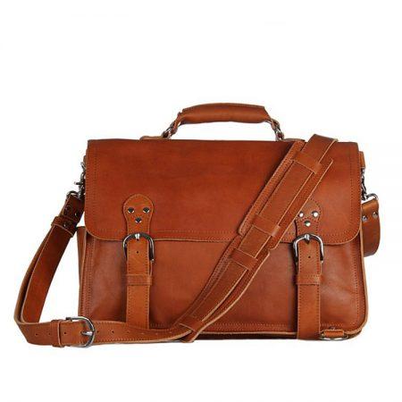 Leather Messenger Bag, Leather Briefcase Backpack