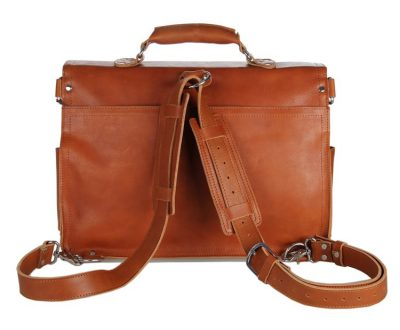 Leather Messenger Bag, Leather Briefcase Backpack-Details