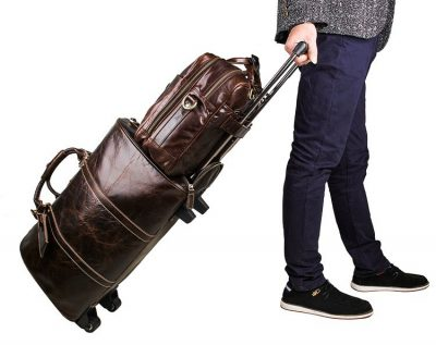 Leather Travel Briefcase-Exhibition