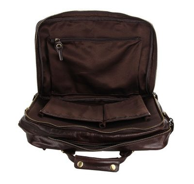 Leather Travel Briefcase-Laptop Sleeve