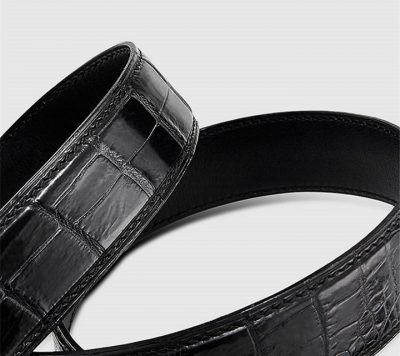 Luxury Automatic Buckle Crocodile Belt-1