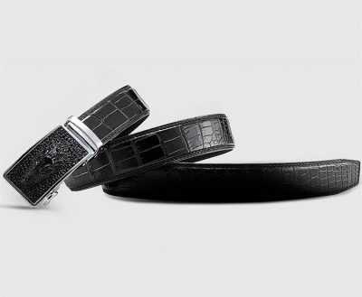 Luxury Automatic Buckle Crocodile Belt-Lay