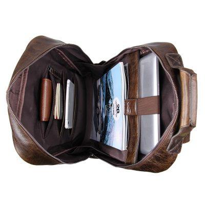 Men's Vintage Leather Backpack