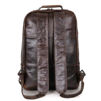 Men's Vintage Leather Backpack, Leather Rucksack-Back