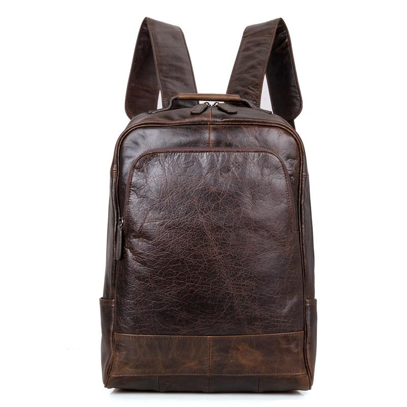 men 39 s vintage leather backpack leather rucksack. Black Bedroom Furniture Sets. Home Design Ideas